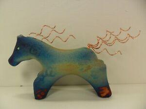 Raku-Pottery-Large-Horse-10in-By-Artist-Jeremy-Diller