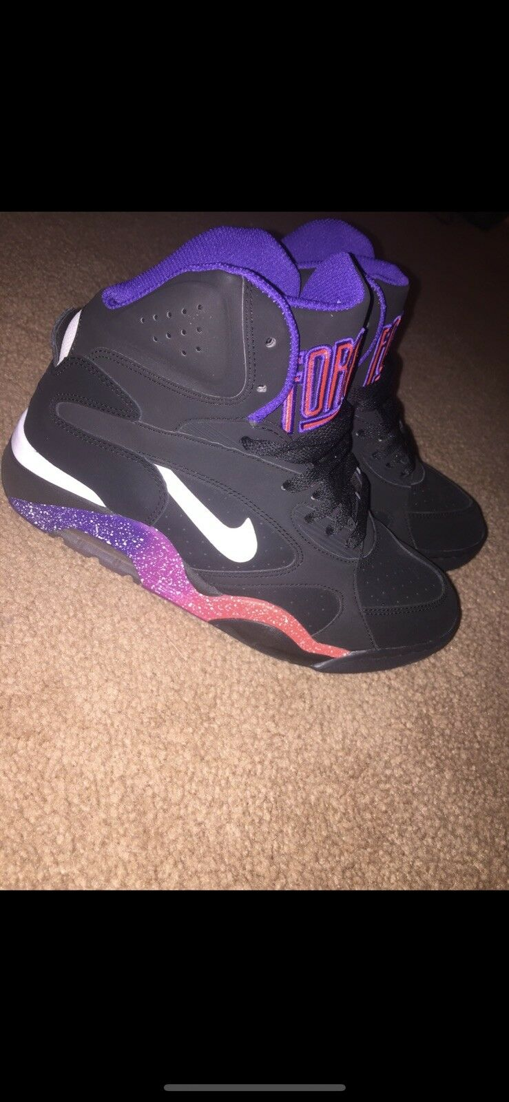 Men's size 8 NIKE Air Force 180 Mid Phoenix Suns (537330-017)