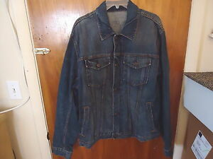 Mens-Gap-1969-Size-XXL-4-Pocket-Button-And-Zipper-Function-Jean-Jacket-034-BEAUTIF