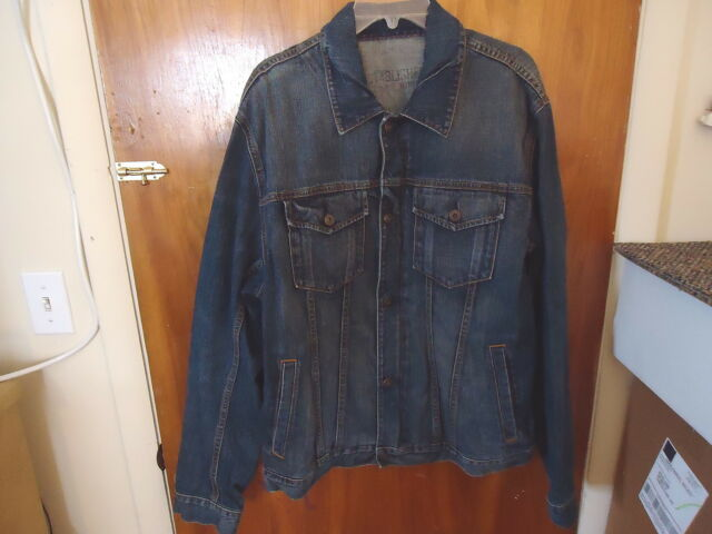 Mens Gap 1969 Size XXL 4 Pocket Button And Zipper Function Jean Jacket
