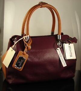 About Nwt Valentina Made Satchel Details Burgundy Leather In Shoulder Bag Pebbled Italy SUjqGzpMLV