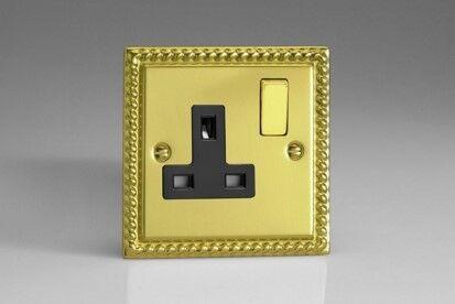 Xg4db Varilight Classic Georgian Chrome 1 Gang 13a Plug Socket
