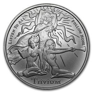 2018 1 Oz Silver Shield Round Trivium Girls Sku 161228