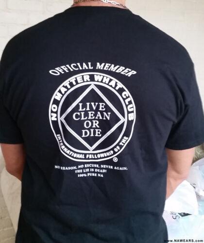 No Matter What Club 2016 T-Shirt Narcotics Anonymous Black 100/% cotton