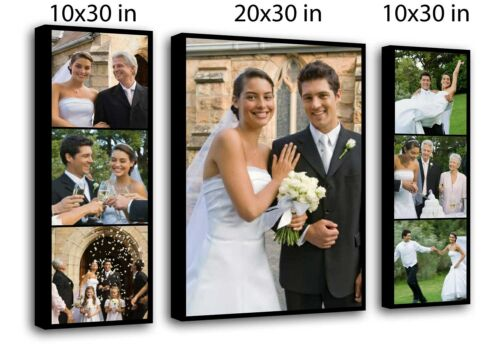 Personalised 3 panels collage canvas redy to hange 40x30 inch