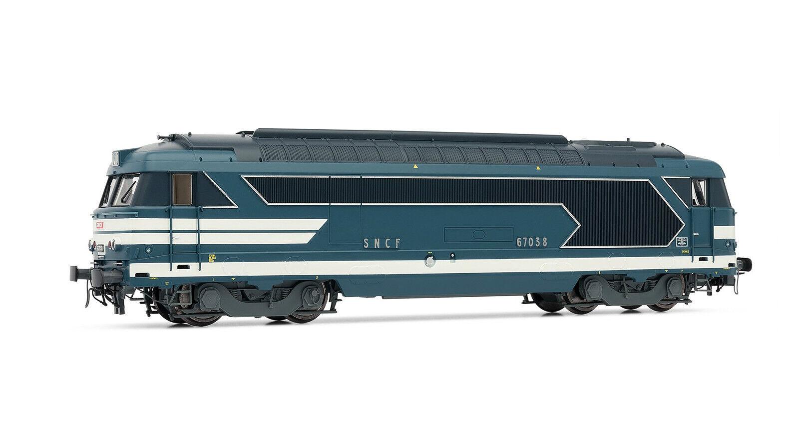 Jouef HJ2217 Locomotive Diesel BB 67038 livrée blu Dépôt de RENNES