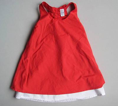 Zara Kids Girls 3 4 Yrs Red White Ruffled Racerback Dress EUC 104 cm Tiered