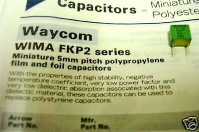 WIMA FKP2 1500pF 100V 2.5/% pitch:5mm Capacitor FKP2D011501D00HSSD 10pcs