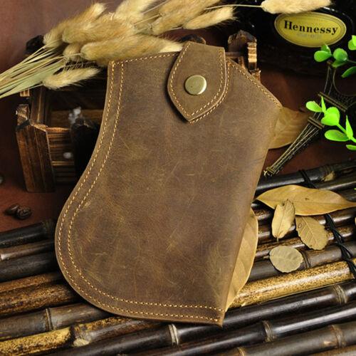 Men Belt Bag Genuine Crazy Horse Leather Cell Phone Case Cover Fanny Pack Waist