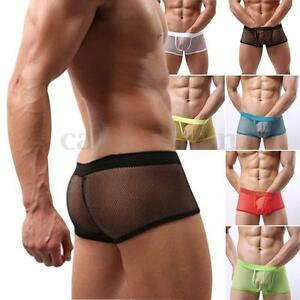 Image is loading Sexy-Mens-Mesh-Underwear-Pants-Transparent-See-Through- 6c1f2c038805