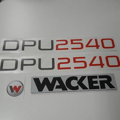 Wacker DPU 6055  3x aufkleber sticker und Wacker Kunstofplatte 3mm 50x260mm