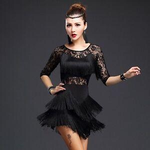 timeless design 5ae58 11c92 Vestito Cha Danza Stanza Latino Costume Da Tango Ballo Salsa ...
