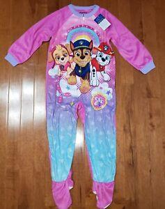 973ca050b227 Paw Patrol Toddler Girl Footed Blanket Sleeper Pajamas PJs New 5T