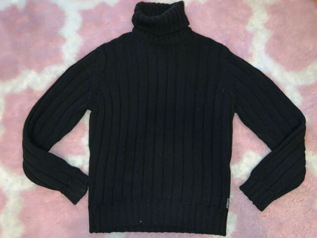 MENS BURBERRY LONDON EXTRA FINE MERINO WOOL TURTLE NECK SWEATER SIZE SMALL S
