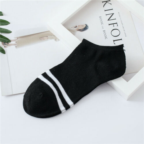 Fashion Women Striped Socks Soft Solid Casual Low Cut Nonslip Ankle Boat Socks