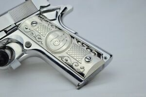 Details about 1911 Grips Gun Grips For Kimber / Colt / ROCK ISLAND Frames  Nickel Plated