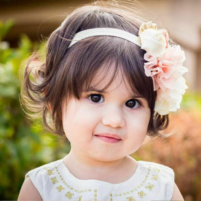 Flower Rhinestone Headband Elastic Hair Band For Baby Girls Kid Hair Accessories