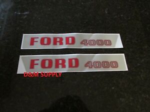 Ford-4000-tractor-hood-decal-set