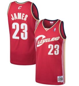 Details about Lebron James #23 Cleveland Cavaliers Mitchell & Ness Mesh NBA Throwback Jersey