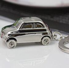 FIAT 500 PORTACHIAVI nuovo in una scatola-Venditore Regno Unito Argento Originale Modello ANNI 1950