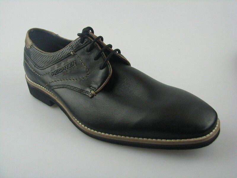 Daniel Daniel Daniel Hechter 811-12204 semi zapato negro de cuero ae314b