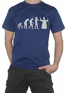 NEW-Pope-Evolution-T-Shirt-Funny-Ape-to-Man-to-Ape-Atheist-Religion-Top-Tee