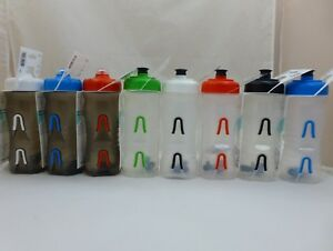 1-Fabric-Cageless-Mount-600ml-20oz-Water-Bottle-White-Red-Blue-Green-Clear
