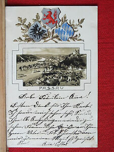 AK-Passau-gepraegtes-Wappen-gel-1899-m1