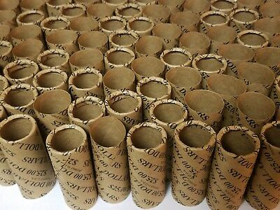 5 Cent nickel 1000 Nickel Paper Coin Wrappers Shotgun Rolls Pre-Crimped 1 End