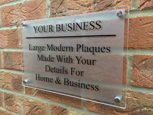 street-nom-numéro Moderne bureau//secteur commercial grand A4 house-signe-business-plaque