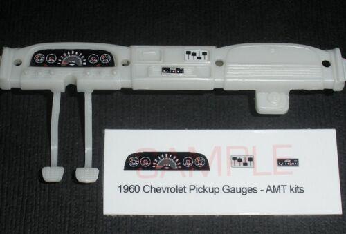 1960 CHEVROLET FLEETSIDE PICKUP GAUGE FACES for 1//25 scale AMT KITS