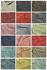 """100% Cotton Canvas Fabric - Spot Polka Dot Material -- 44"""" (112cm) wide"""