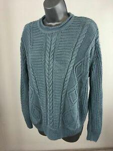Women-039-s-Pull-amp-Bear-Blue-Knitted-Long-Sleeve-Jumper-Sweater-Size-EUR-M