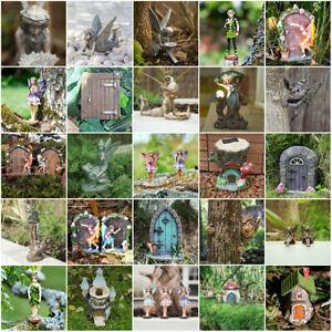 Novelty-Fairy-Garden-Ornament-Outdoor-Elves-Fairies-Mushroom-Elf-Pixie-Door-rare