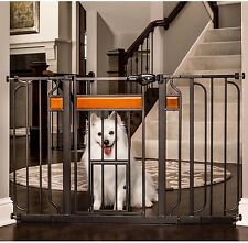 Paw Extra Wide Pet Gate Adjustable Metal Safety Expandable Walk-Thru Dog Fence