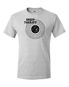 Group-Therapy-Shooting-T-Shirt-Funny-Gun-Laws-Rights-American-2nd-Amendment-Tee