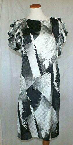 Pure Vintage Dress Argenti Silk Size Black 80s Sl