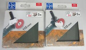 LuxTools-Fogli-carta-abrasiva-5PZ-115mm-grana-assortita-x-ferro-x-levigatrice
