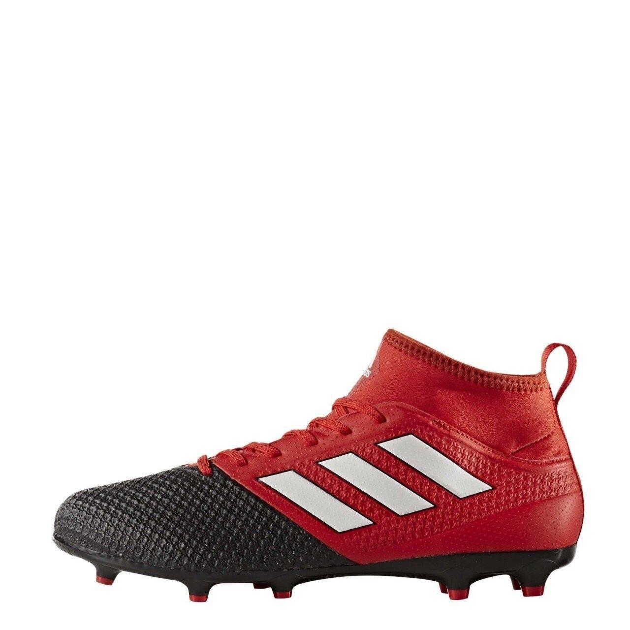 Adidas Botines para hombre Ace 17.3 FG Botines Adidas para Balonpié Negro/Rojo BA8506 799f92
