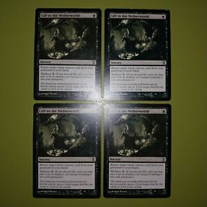 Call-to-the-Netherworld-x4-Time-Spiral-4x-Playset-Magic-the-Gathering-MTG