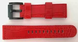 TW-STEEL-Uhrenband-Uhrenarmband-Ersatzband-Lederband-22-mm-NEU-LEDER-ROT-10