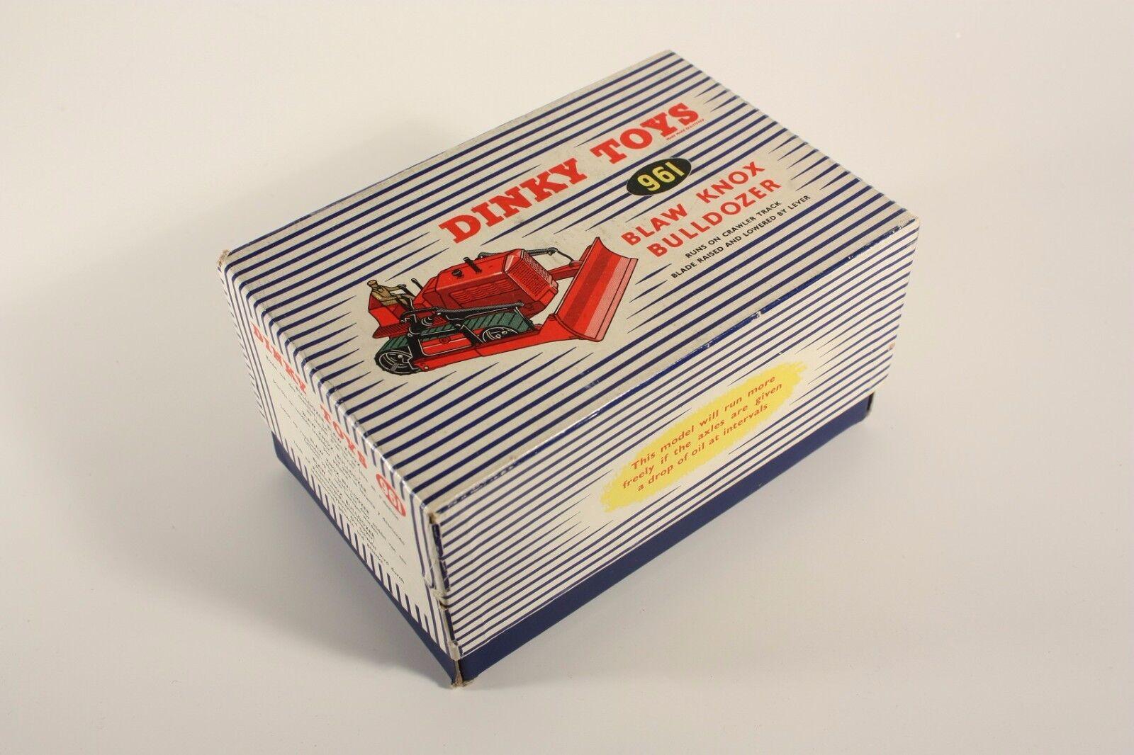 Dinky Toys 961, Blaw Knox Bulldozer, only Box Box Box                       ab1979 50dc5d
