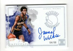 JAMAAL-WILKES-NBA-2018-19-PANINI-IMPECCABLE-GOLDEN-STATE-WARRIORS-AUTOGRAPH-99