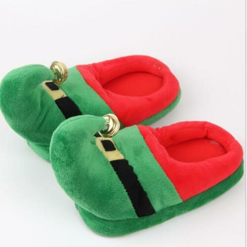 Adult Kids Christmas Fluffy Home Indoor Carpet Shoes Winter Warm Slippers Sea198