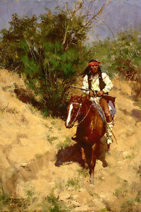 HOWARD-TERPNING-034-APACHE-SCOUT-034-2013-LMT-ED-SOLD-OUT-CANVAS-MINT-COA