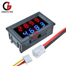 Blueredredred 10a 4bit 5wires Voltmeter Ammeter Dc200v Led Dual Digital Volt