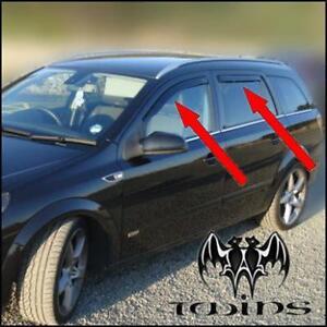4 deflettori aria antiturbo oscurati opel astra h station wagon sw