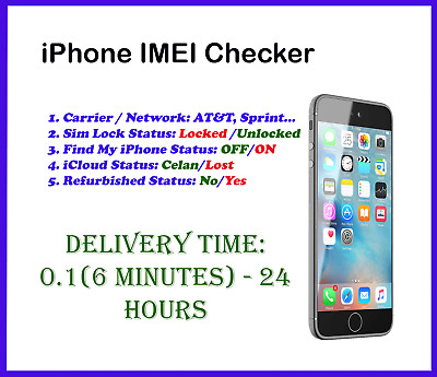 Fast iPhone IMEI Check Carrier/Network/Sim Lock/Find My iPhone/Refurbished  | eBay