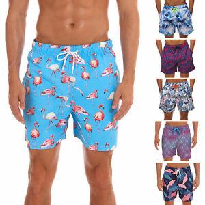 Mens-Swim-Trunks-Surfing-Beach-Board-Shorts-Bathing-Suit-Mesh-Lining-Pockets