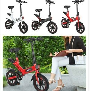 Bicicleta-Electrica-Plegable-14-034-E-Bike-350W-36V-25KM-H-Unisexo-Cabalgando-NUEVO